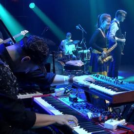 Tibor Feledi Kairos Quintet - visuals for concert at Bratislavske Jazzove Dni 2019