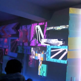 Recycled Video Mapping KinocirKus at B-Seite Mannheim