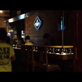 Siluet cafe stage video mapping