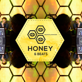 Honey&Beats. Video installation event