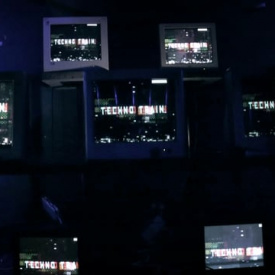 Old screens installation for techno train @ Mansion (Shanghai)