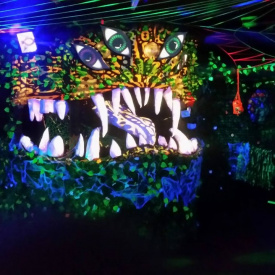 Mischlichter live Visual Mapping at Psychedelic Elements Party