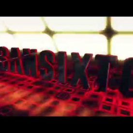 Sansixto 3D Red Grid