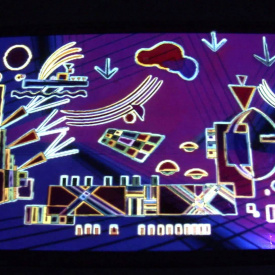 Wassily Kandinsky video mapping projection