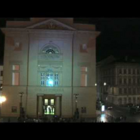 Palace Hybernia Prague videomapping 1. 10. 2009