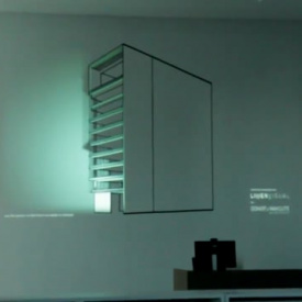 Architectural presentation - Tape Art + Projection Mapping