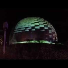 Masterdamus PLANITARIUM External projection @ Monochrome Party Purim Tel aviv 2015