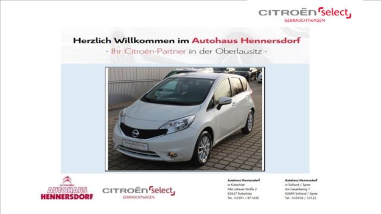 Nissan Note 1.2 acenta+