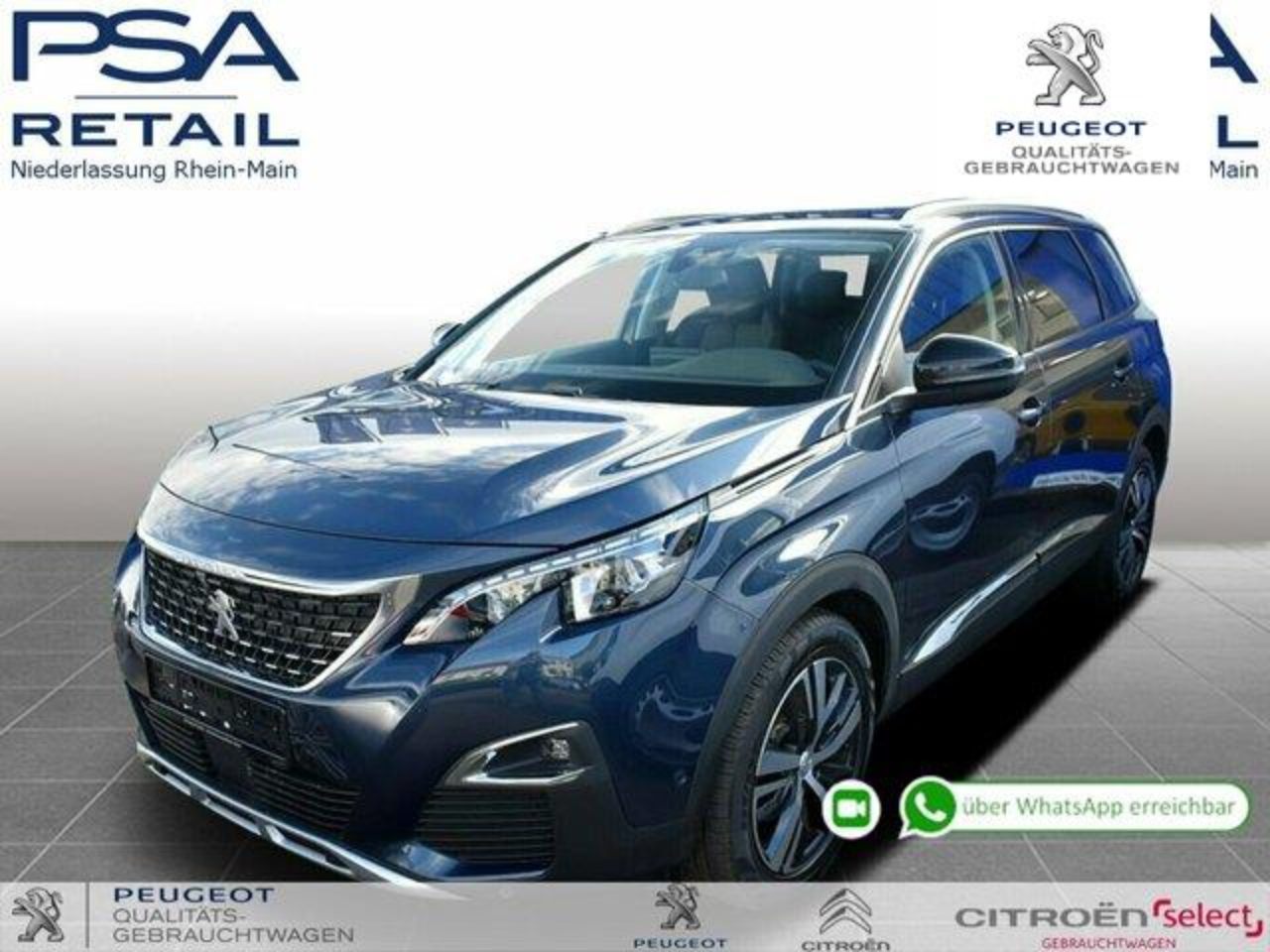 Peugeot 5008 BlueHDi 130 Allure *3D-Navi*Full-LED*360*Black-Dia