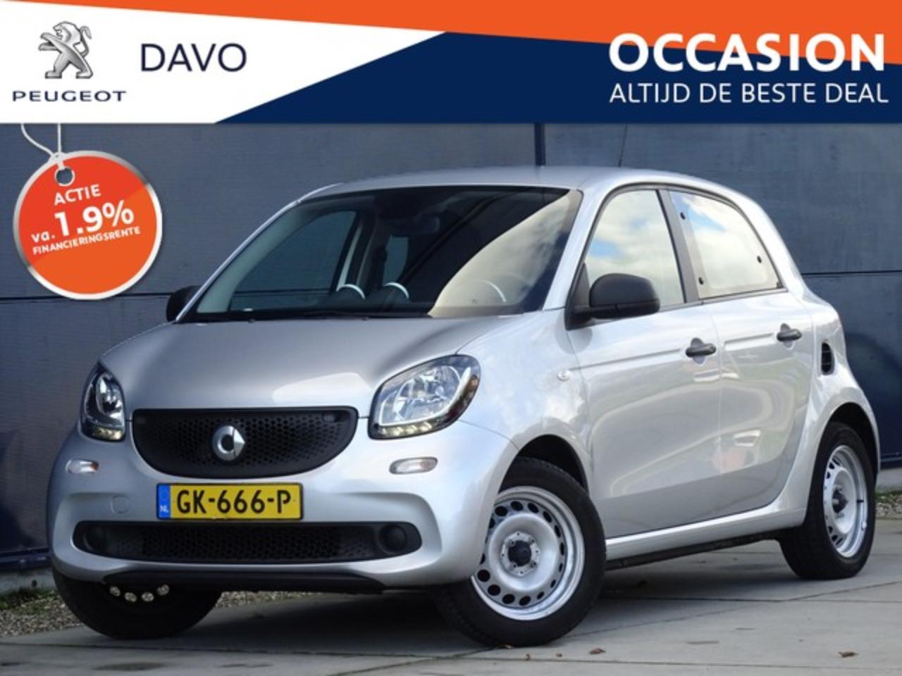 Smart Forfour 1.0 Pure met Climate I Bluetooth I Cruise Control