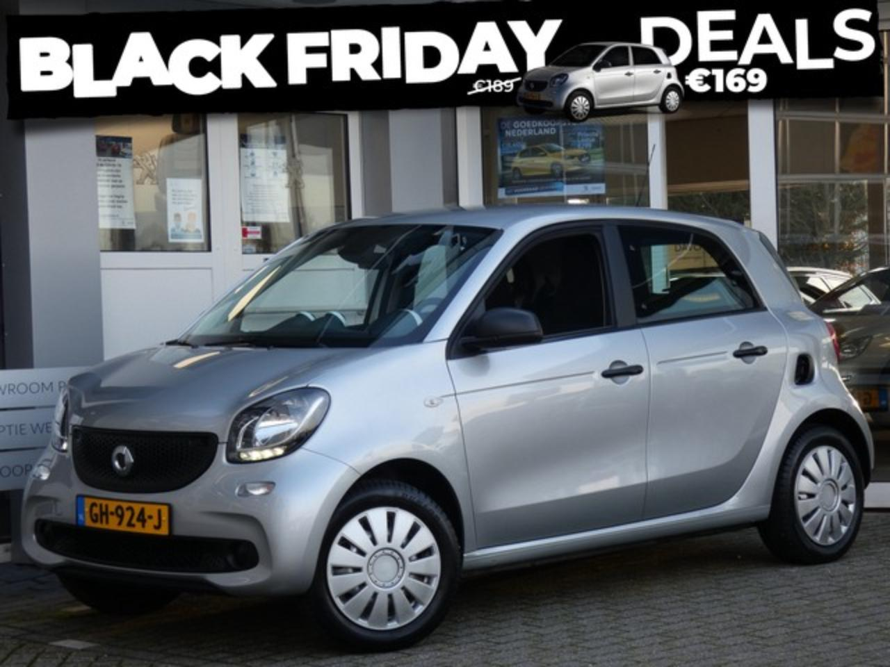 Smart Forfour 1.0 Pure BLACK FRIDAY DEAL | PRIVATE LEASE VANAF 1
