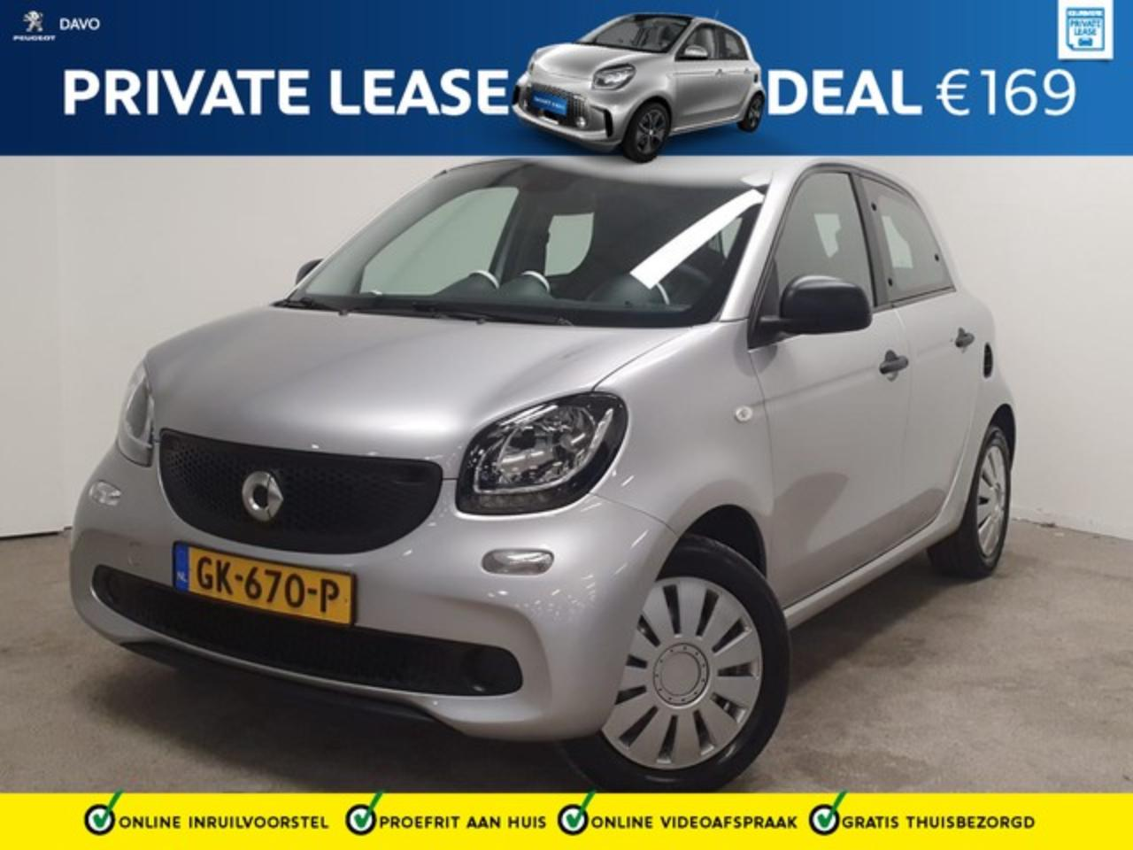 Smart Forfour 1.0 Pure PRIVATE LEASE VANAF E 169,- P/M