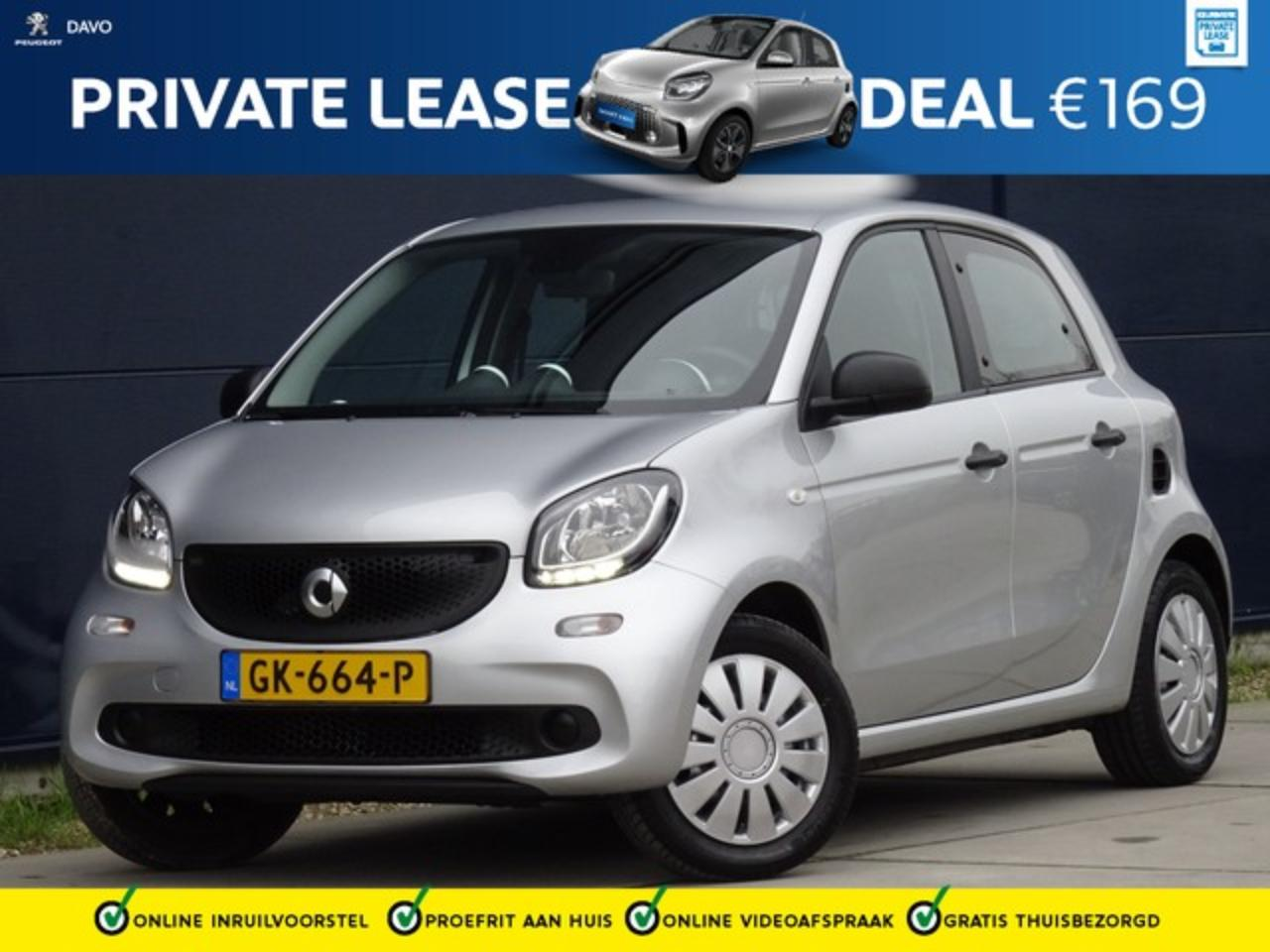 Smart Forfour 1.0 Pure met Climate I Bluetooth PRIVATE LEASE VAN