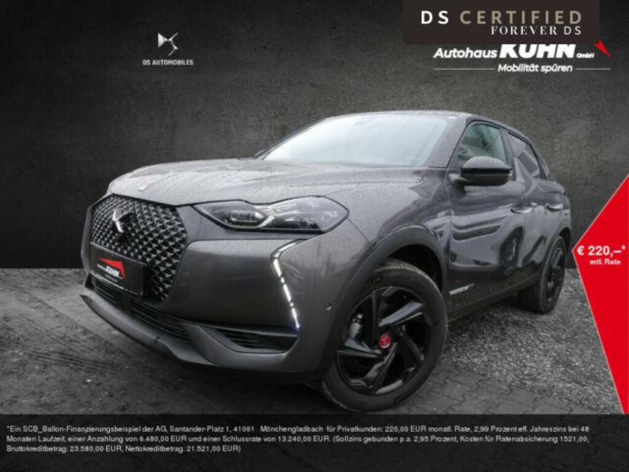Ds DS 3 CROSSBACK PureTech 155 Performance Line ACC
