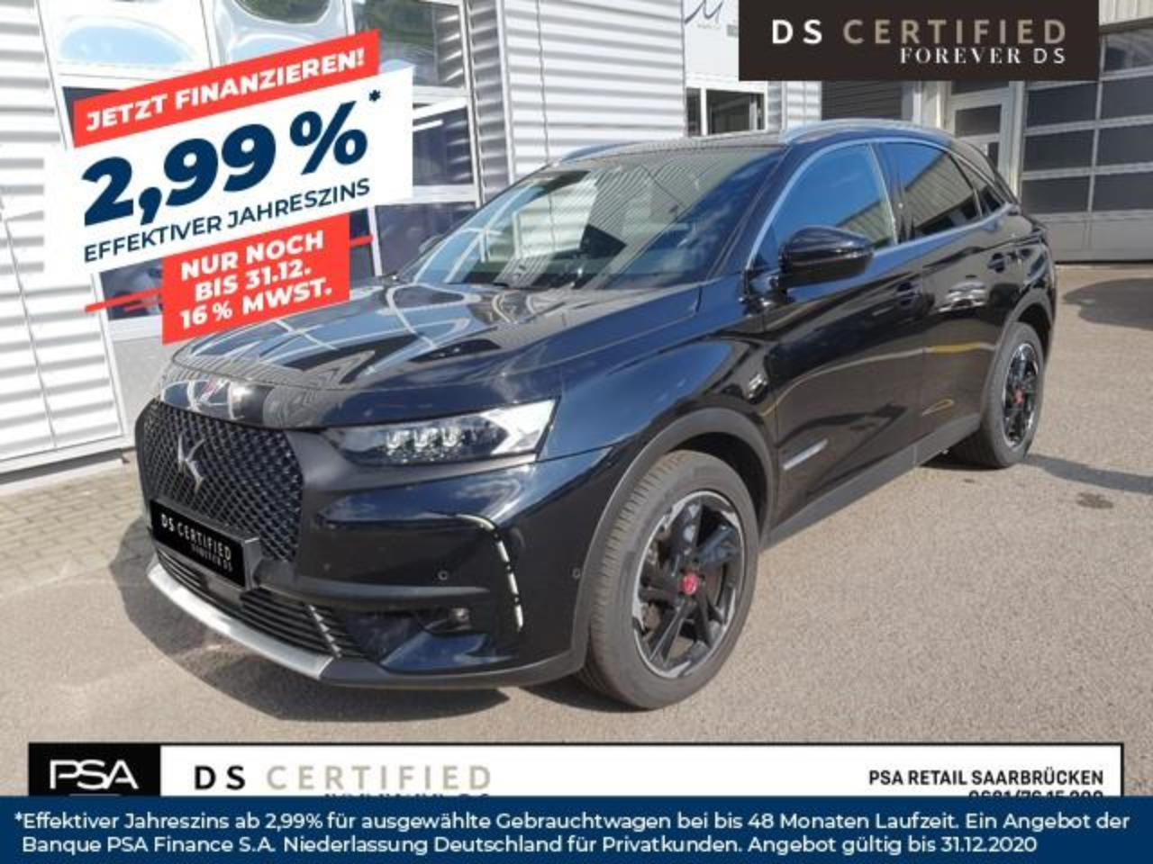 Ds DS 7 CROSSBACK PERFORMANCE B-LINE 2,0BlueHDI 180PS Automatik