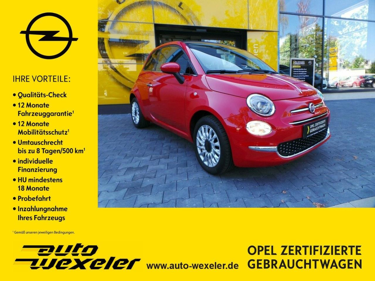 Fiat 500 Cabrio Lounge 1.2 AT,Navi,WKR,PDC