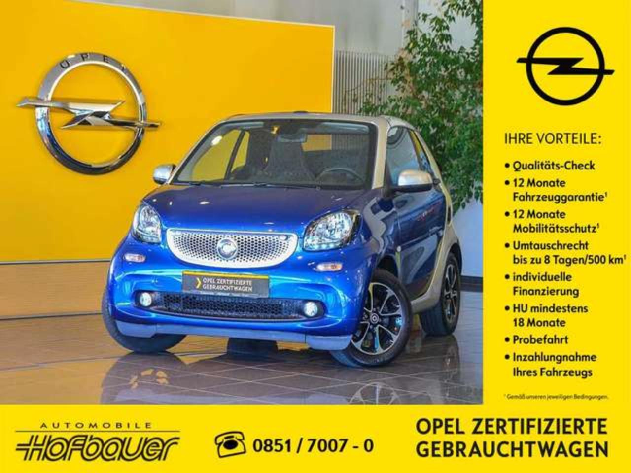 Smart Fortwo forTwo 0.9 Twinamic 6-Gang-Automatik Cabrio Garant