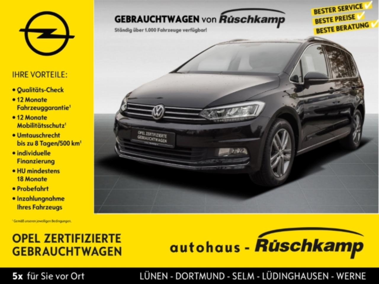 Volkswagen Touran Highline Glasdach Navi Massagesitze BT USB Bi-Xeno