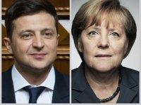 """Зеленський і Меркель домовилися про швидке проведення саміту в """"нормандському форматі"""" - Офіс президента"""