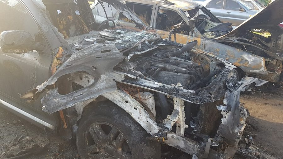 У Запорізькій області вночі згоріло три автомобілі, - ФОТО