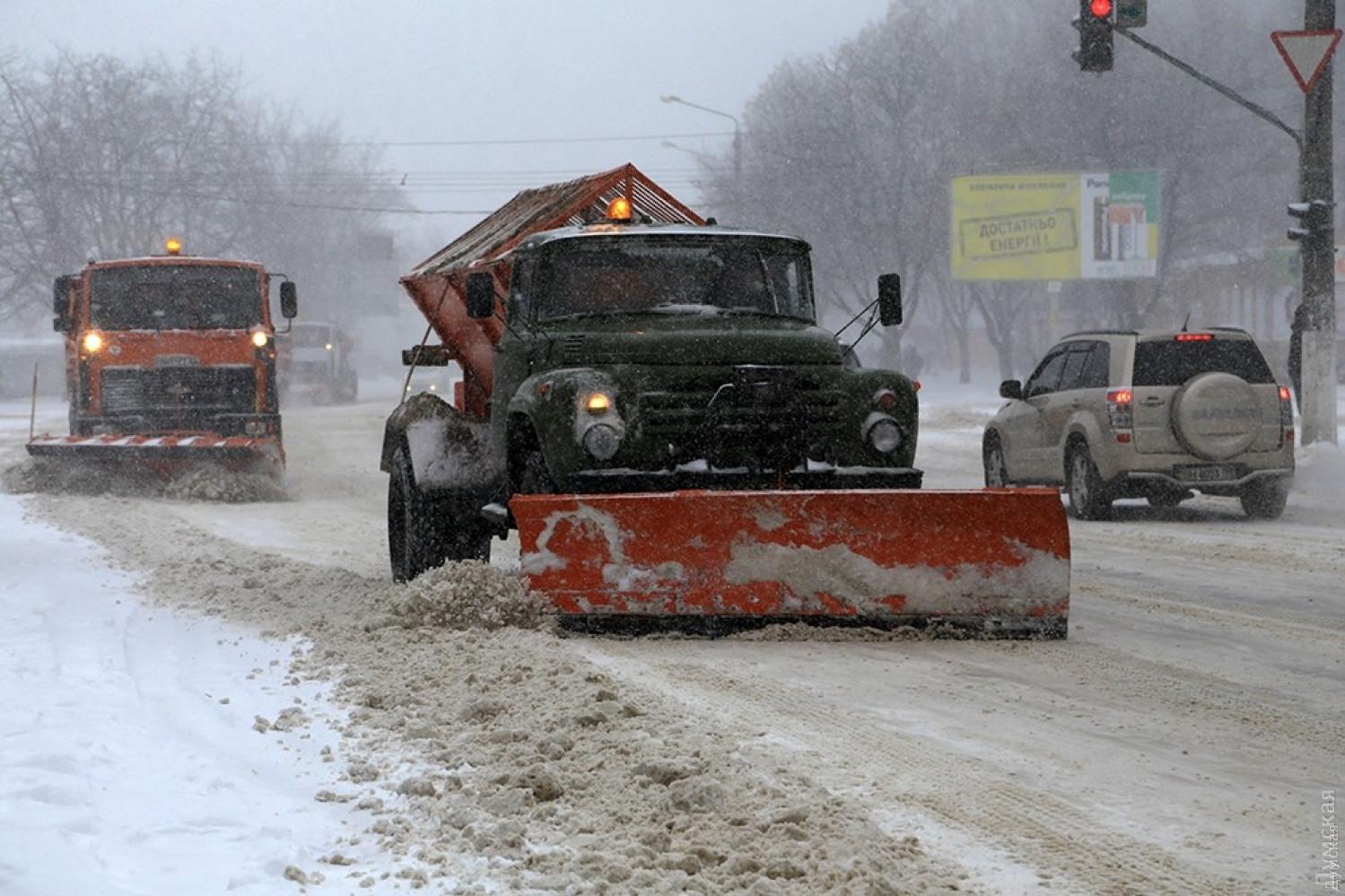 Одесские коммунальщики готовы заплатить частной компании больше 3,5млнгрнзапомощь вуборке снега