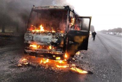 Під час руху загорівся автобус із пасажирами (ФОТО)