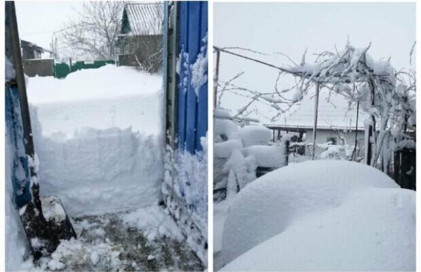 «Снігу по пояс» і фури в заметах: у мережі показали наслідки негоди в Одеській області (ФОТО/ВІДЕО)