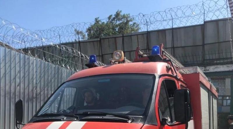 Спасатели провели учения на территории Измаильского СИЗО – «тушили» пожар во дворе учреждения