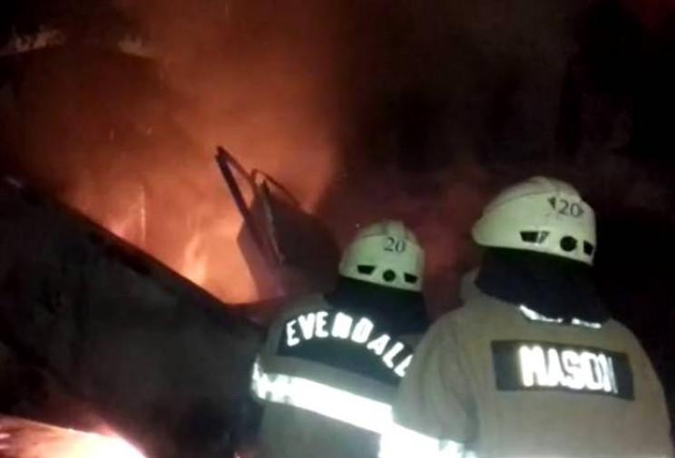 В Херсоне на рассвете горели киоски, возможен поджог