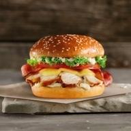 Chicken Caesar's burger