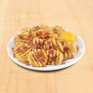 Πατάτες Crosscut με Cheddar sauce & Μπέικον