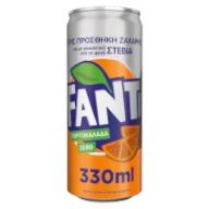 Fanta πορτοκάλι zero 330ml