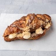 Κρουασάν βουτύρου με σοκολάτα & μπανάνα