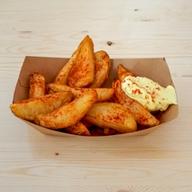 Πατάτες τηγανητές με φλούδα