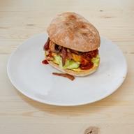 Cookoomela mushroom melt burger