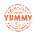 Yummy sandwich coffee & snacks