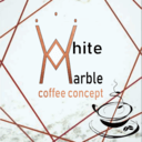 White marble cocktail concept