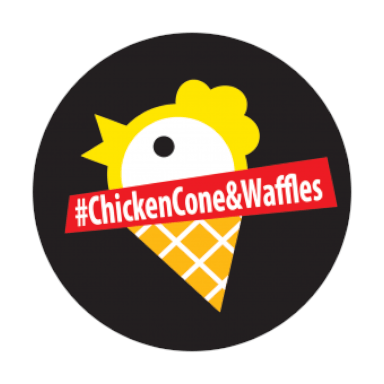 Chicken cone & waffles