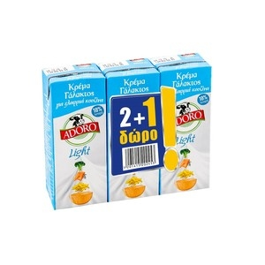 ADORO Κρέμα Γάλακτος 2+1 Δώρο
