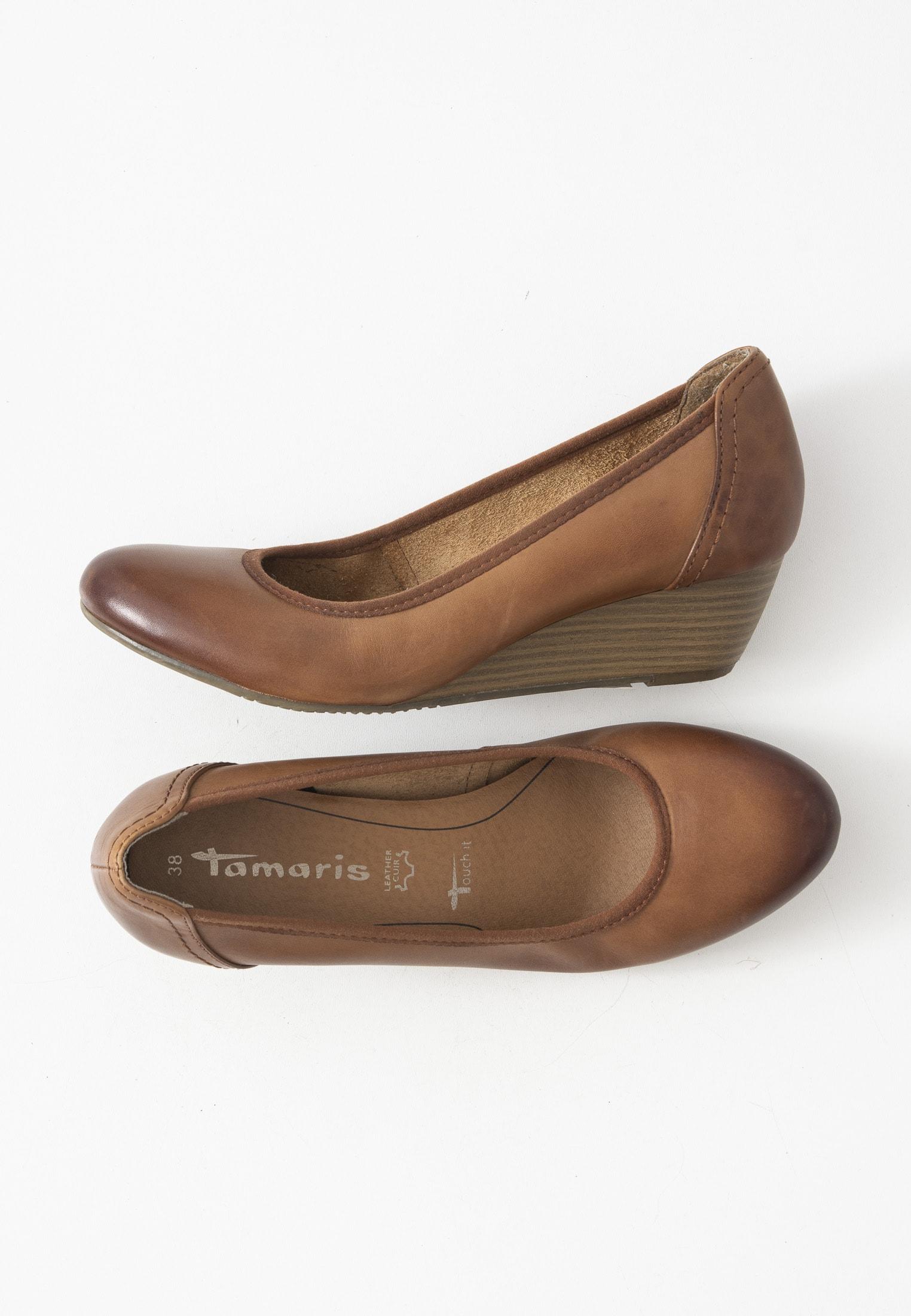 Tamaris Halbschuh / Ballerina Braun Gr.38
