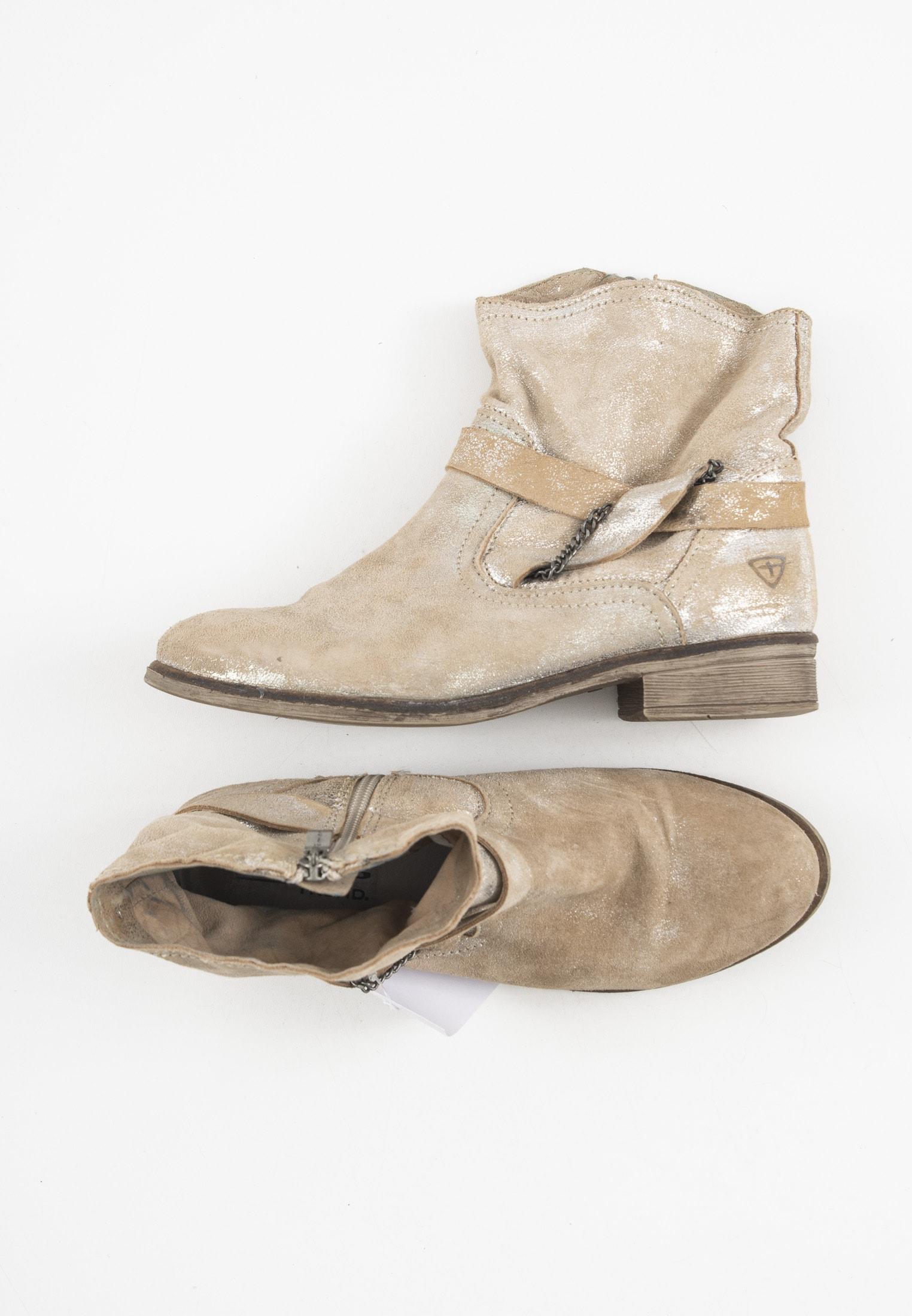Tamaris Stiefel / Stiefelette / Boots Beige Gr.39