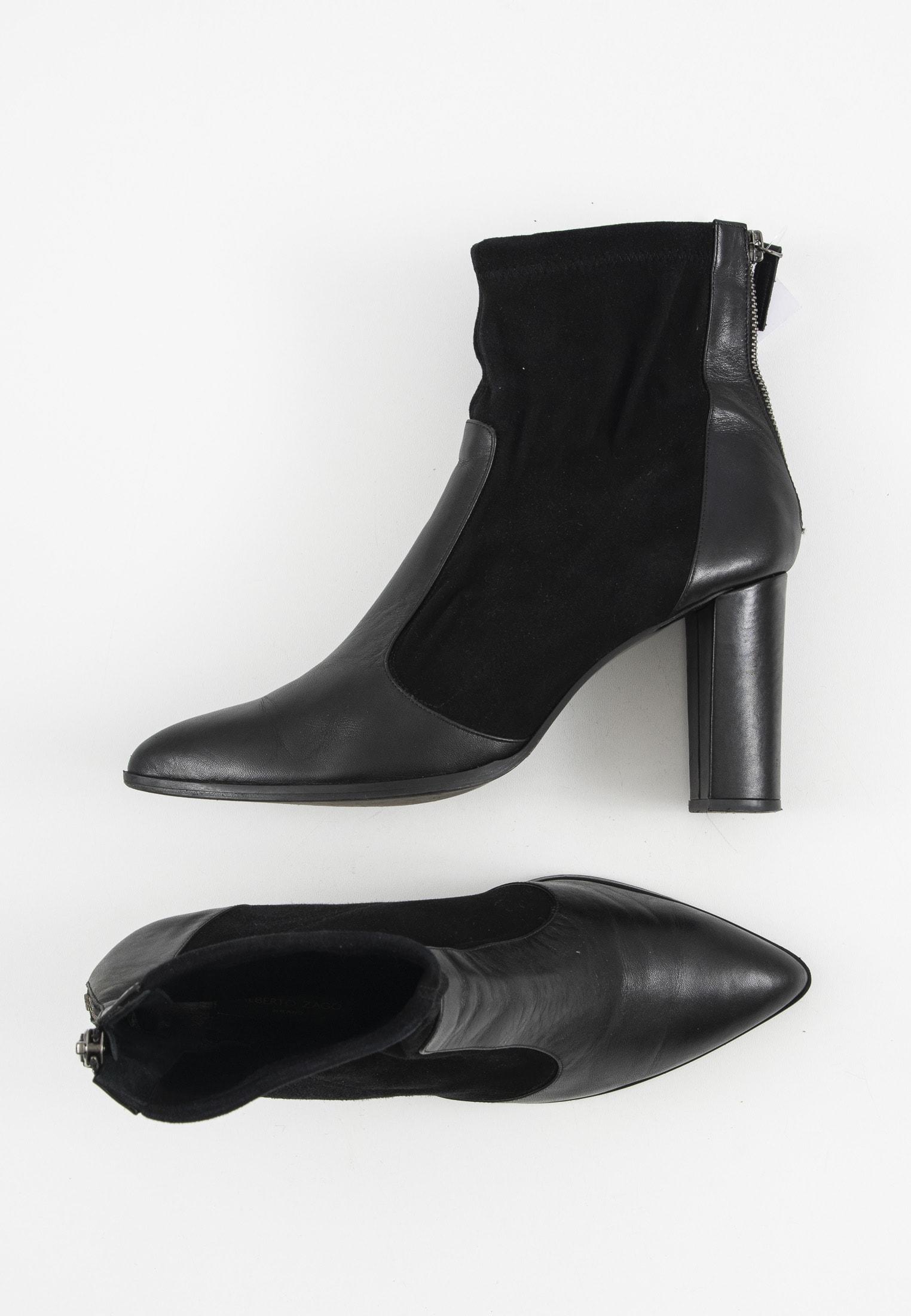 Alberto Zago Stiefel / Stiefelette / Boots Schwarz Gr.42
