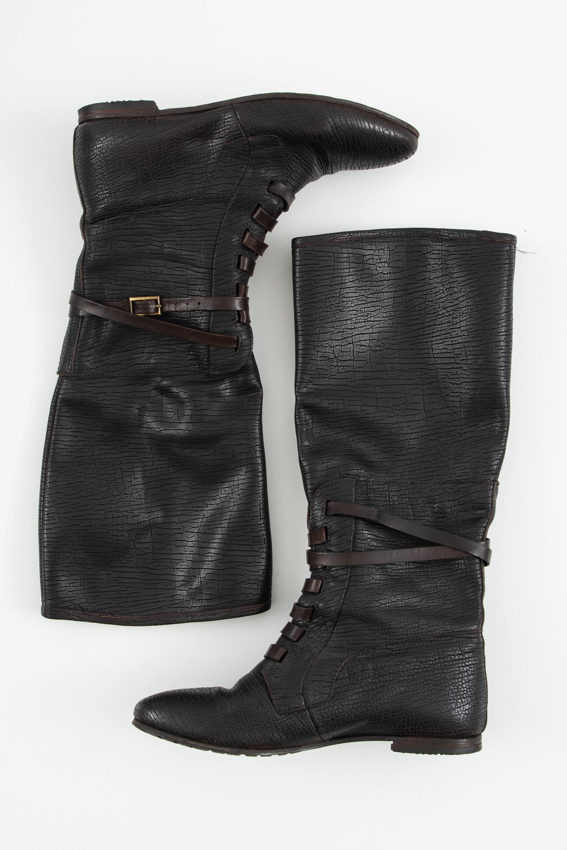 Attilio Giusti Leombruni Stiefel / Stiefelette / Boots Braun Gr.38