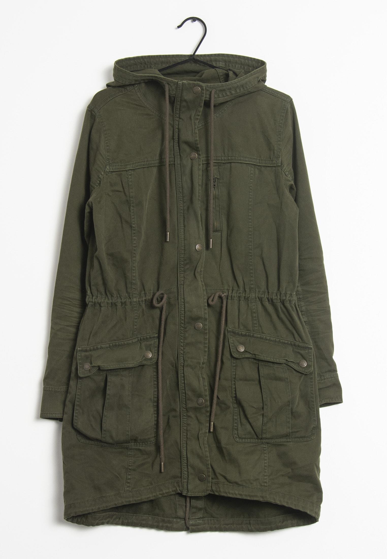 Abercrombie & Fitch Mantel Grün Gr.M