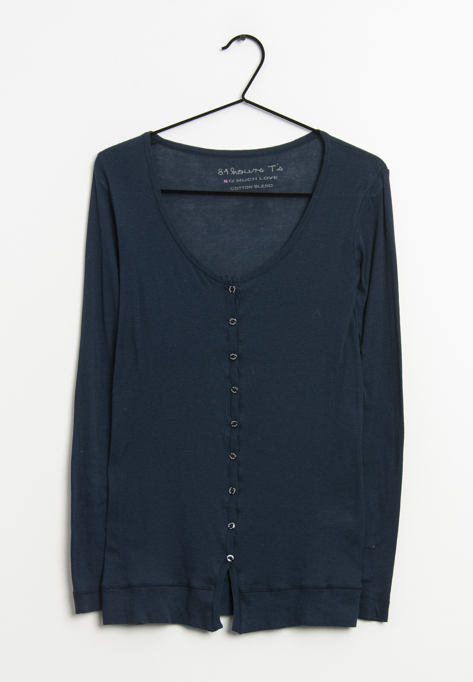 81hours Langarmshirt Blau Gr.S