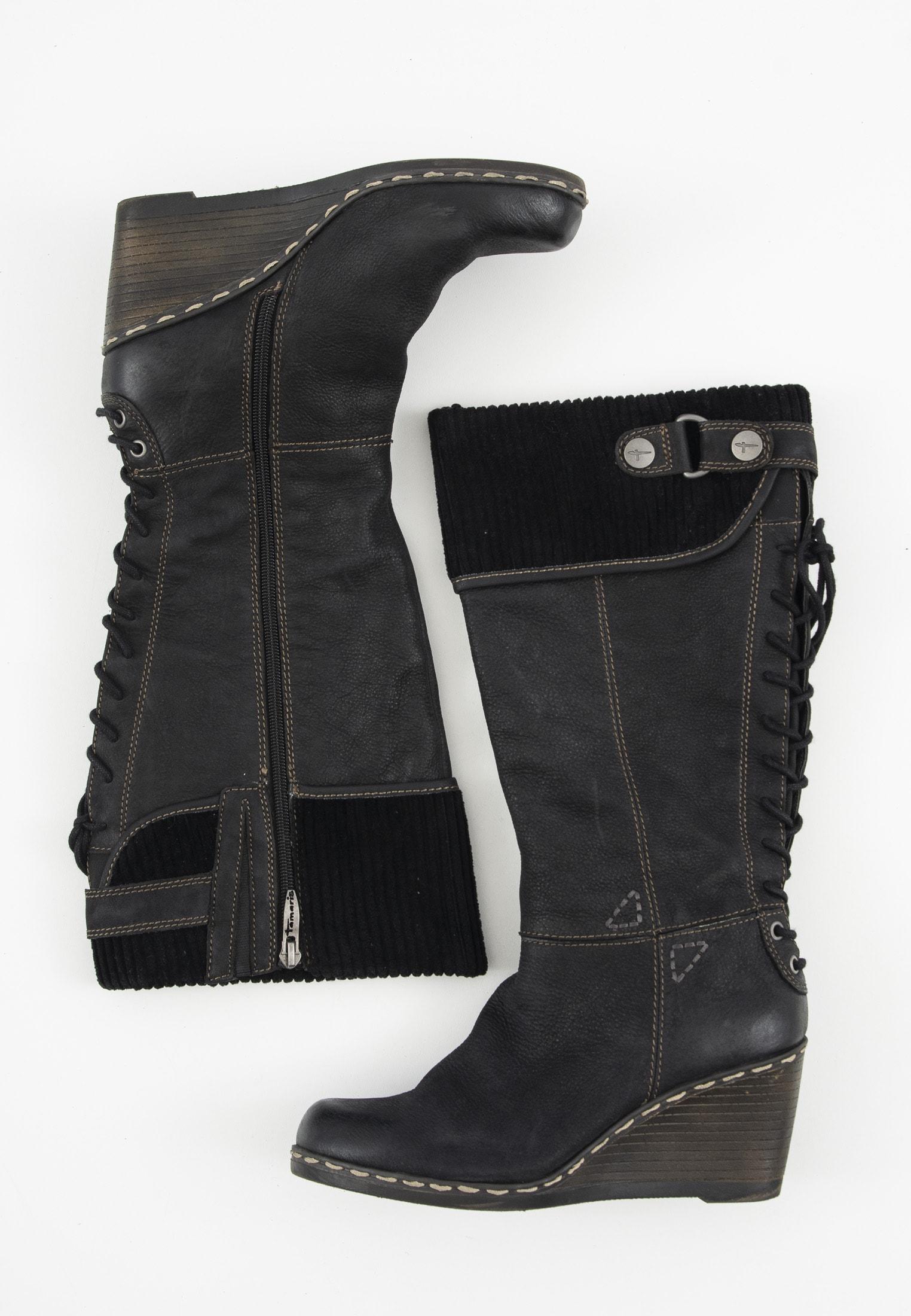 Tamaris Stiefel / Stiefelette / Boots Blau Gr.39
