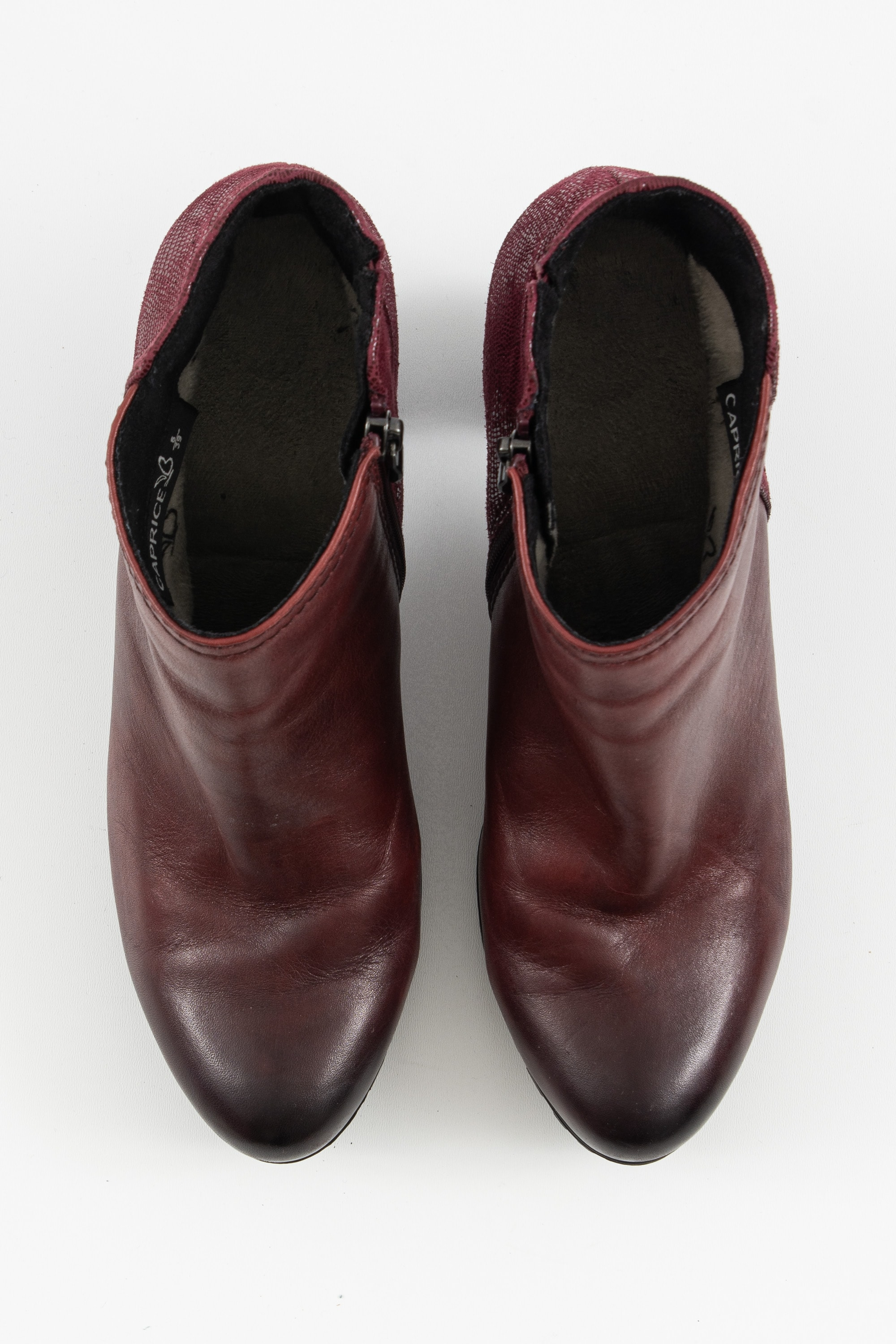 Caprice Stiefel / Stiefelette / Boots Rot Gr.39.5