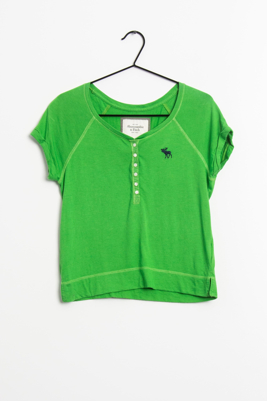 ABERCROMBIE & FITCH T-Shirt Grün Gr.XS