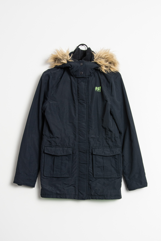 Abercrombie & Fitch Winterjacke Schwarz Gr.XL