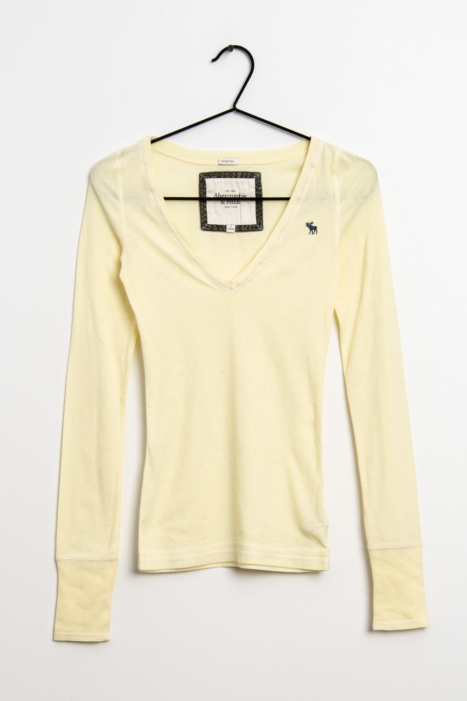 Abercrombie & Fitch Langarmshirt Gelb Gr.S